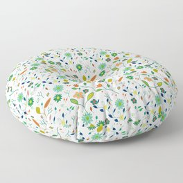 Floral Pattern IV simple draw Floor Pillow