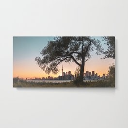 Toronto Skyline Sunset Metal Print