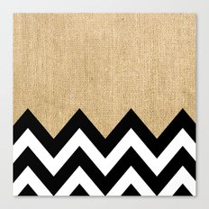 BURLAP BLOCK CHEVRON Canvas Print
