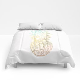 Ombre Gold Pineapple  Comforters