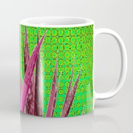 OPTICAL ART MAUVE PURPLE CACTUS Coffee Mug