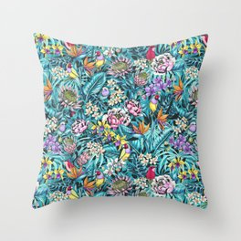 Stand out! (fresh aqua) Throw Pillow