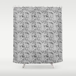 Hipster Elements Pattern Shower Curtain