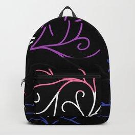 Black Velvet, Genderfluid Flag Vines Backpack