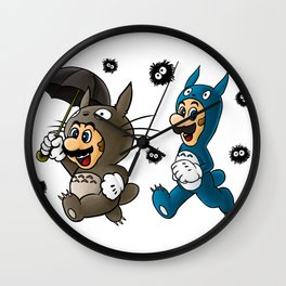 Super Totoro Bros. Alternative Wall Clock
