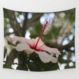 Hibiscus flower on its tree Wall Tapestry