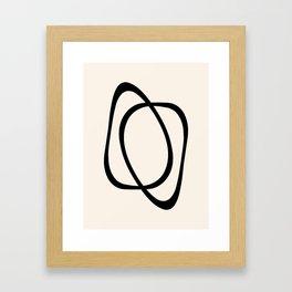 Interlocking Two A - Minimalist Line Abstract Framed Art Print