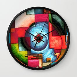Lost in an Urban maze Wall Clock