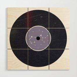 Vinyl Record Star Sign Art | Sagittarius Wood Wall Art