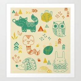 Tribal Animal Art Print