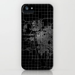 Lincoln map Nebraska iPhone Case