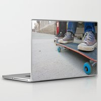 skateboard Laptop & iPad Skins featuring Skateboard by Mechanical Kayla