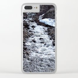 Mountain Run Off Clear iPhone Case