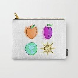 Peach, Plum, Earth, Sun Carry-All Pouch