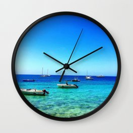 Vieques Floats Wall Clock