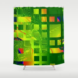 Great Green Frac 5 Shower Curtain