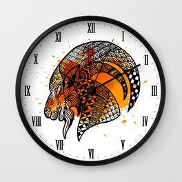Zodiac Zentangle - Capricorn Wall Clock