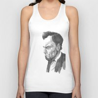 lincoln Tank Tops featuring Lincoln 50 by David Sparvero