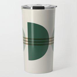 Emerald Abstract Half Moon 1 Travel Mug