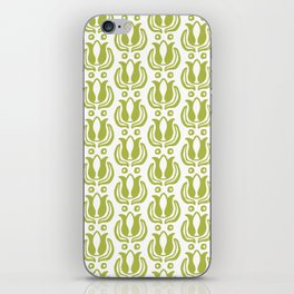 Tulip Pattern Chartreuse iPhone Skin