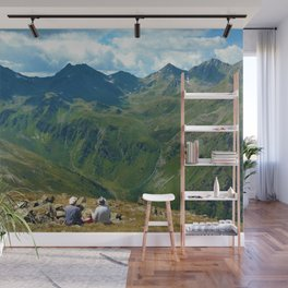 zwölferkopf hiking break view alps serfaus fiss ladis tyrol austria europe Wall Mural