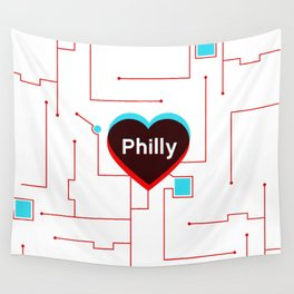Philly In Transit Wall Tapestry