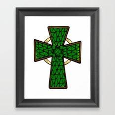 Shamrock Celtic Cross Framed Art Print