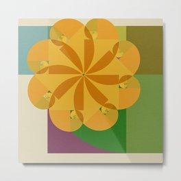 Fibonacci Flower Metal Print