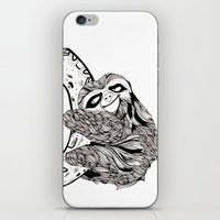 sloth iPhone & iPod Skins featuring Sloth  by Animaux Circus