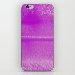 Pink trace in snow iPhone Skin