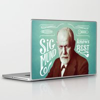 freud Laptop & iPad Skins featuring Sigmund Knows Best by Astor Alexander