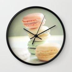 Pretty Macarons Wall Clock
