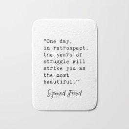 Sigmund Freud quote Bath Mat