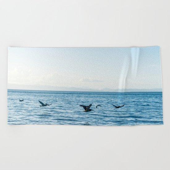 Flying Flock Beach Towel