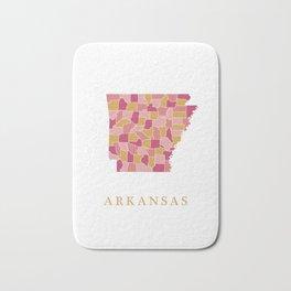 Arkansas map Bath Mat