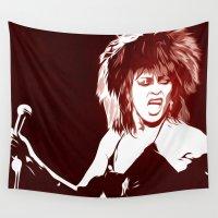 tina crespo Wall Tapestries featuring Tina - Pop Art by William Cuccio aka WCSmack
