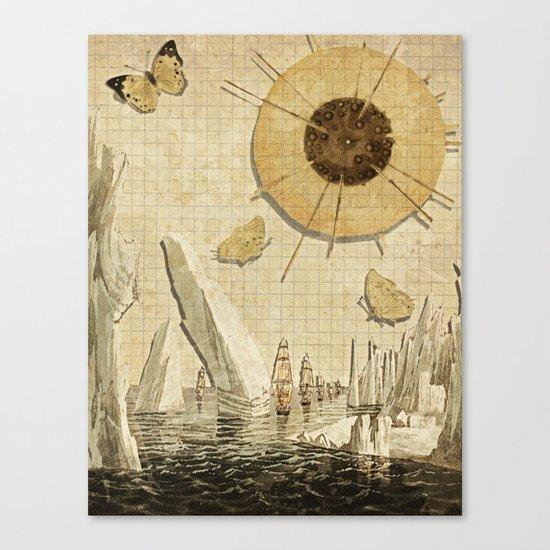 paper I :: butterflies/icebergs Canvas Print