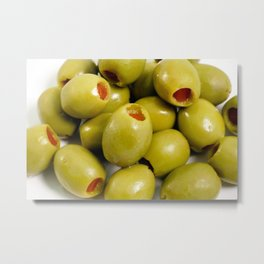 Green olives Metal Print