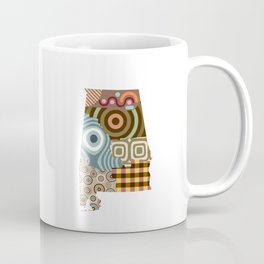 Alabama State Map Coffee Mug