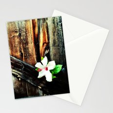 Old wood and a flower. Stationery Cards