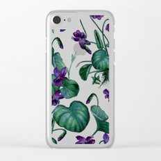 Violets #society6 #decor #buyart Clear iPhone Case