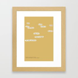 Blackout Poem {024.} Framed Art Print