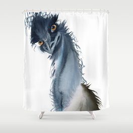 Funny ostrich Shower Curtain