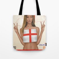 england Tote Bags featuring England by Kingdom Of Calm - Print On Demand