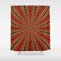 spanish Shower Curtains featuring Spanish sun by Bubblemaker