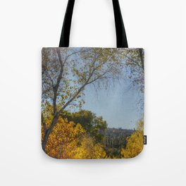 Fall and Cactus Tote Bag