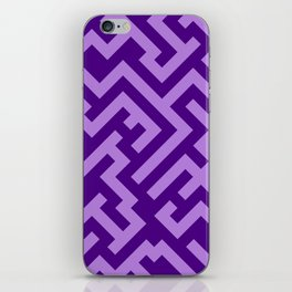 Lavender Violet and Indigo Violet Diagonal Labyrinth iPhone Skin