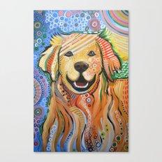 Max ... Abstract dog art, Golden Retriever Canvas Print