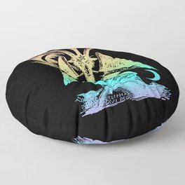 Pastel Rainbow Baphomet Floor Pillow