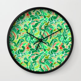 Abstract green marble 4 Wall Clock